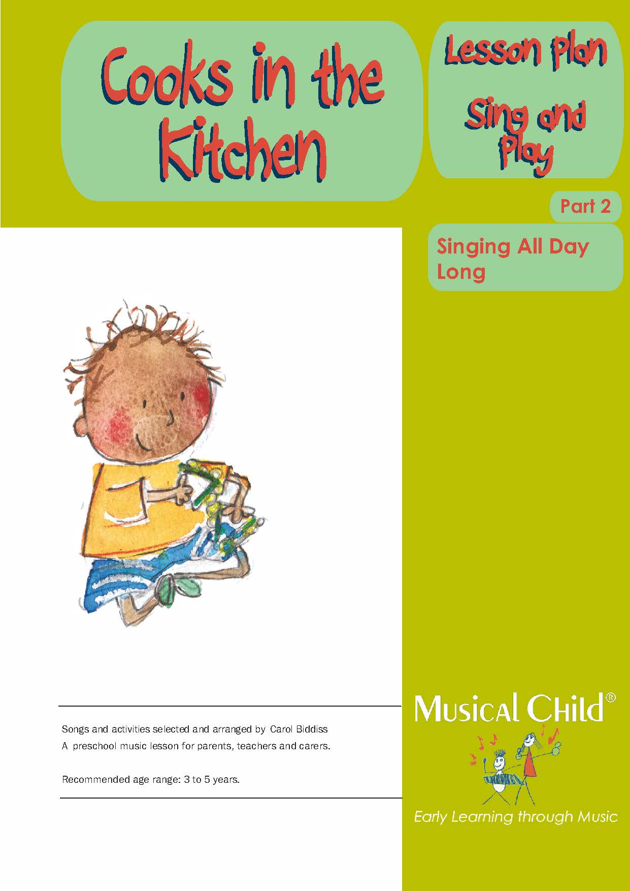 Cooks In The Kitchen Preschool Music Lesson Plan 2 Download